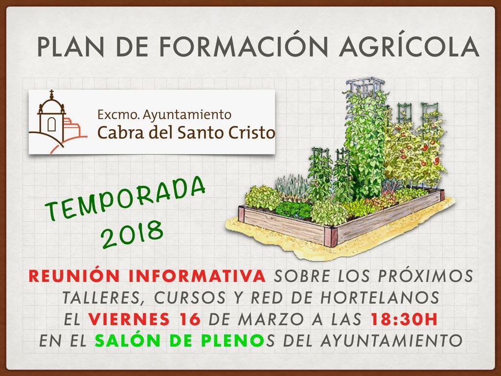 Plan de formación agrícola