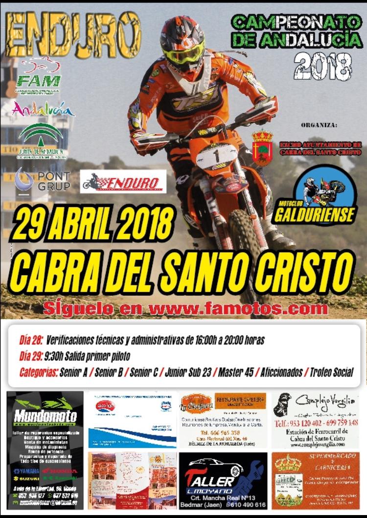 PRUEBA ENDURO CABRA DEL SANTO CRISTO, 29 DE ABRIL DE 2018