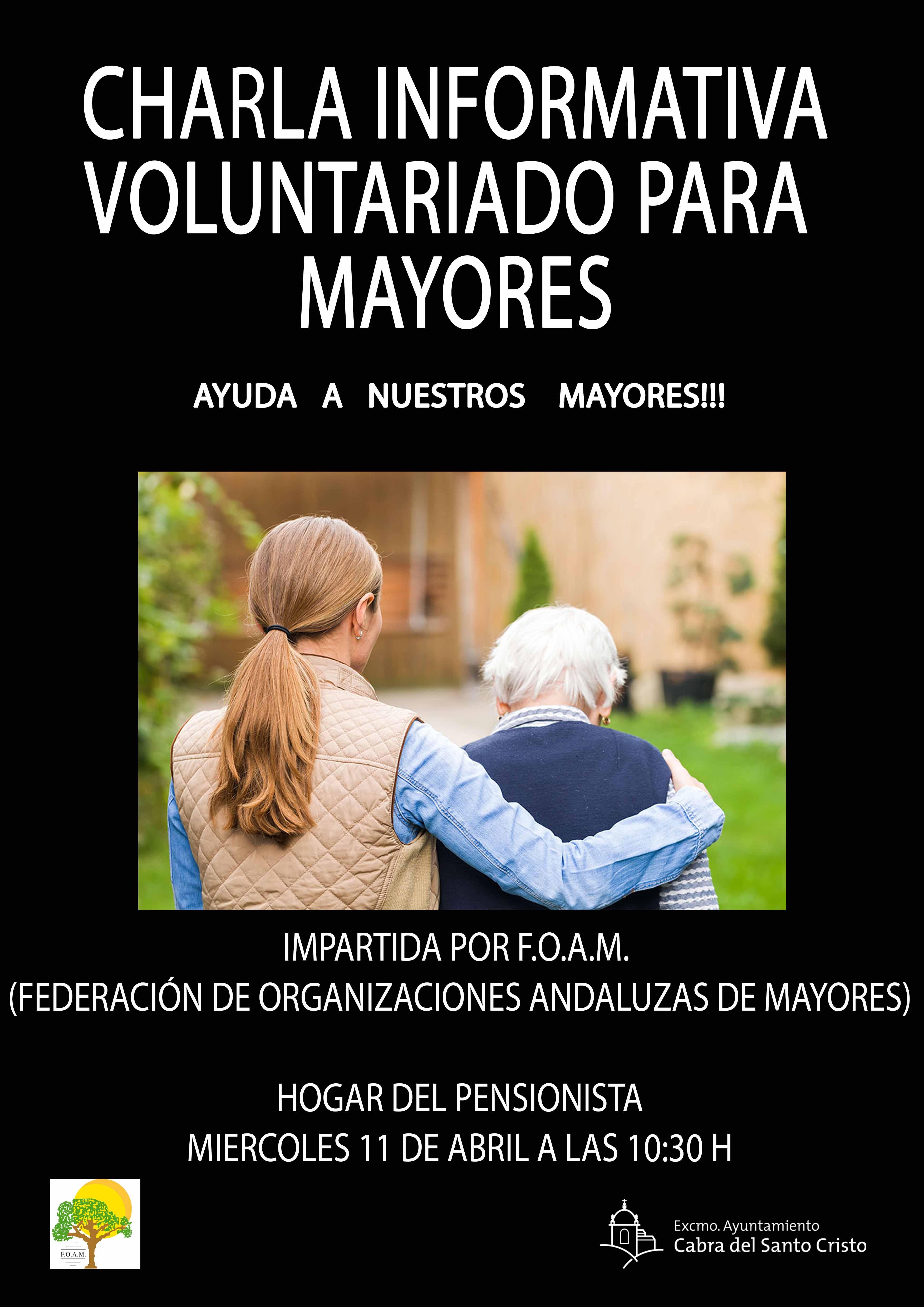Charla informativa sobre voluntariado para mayores