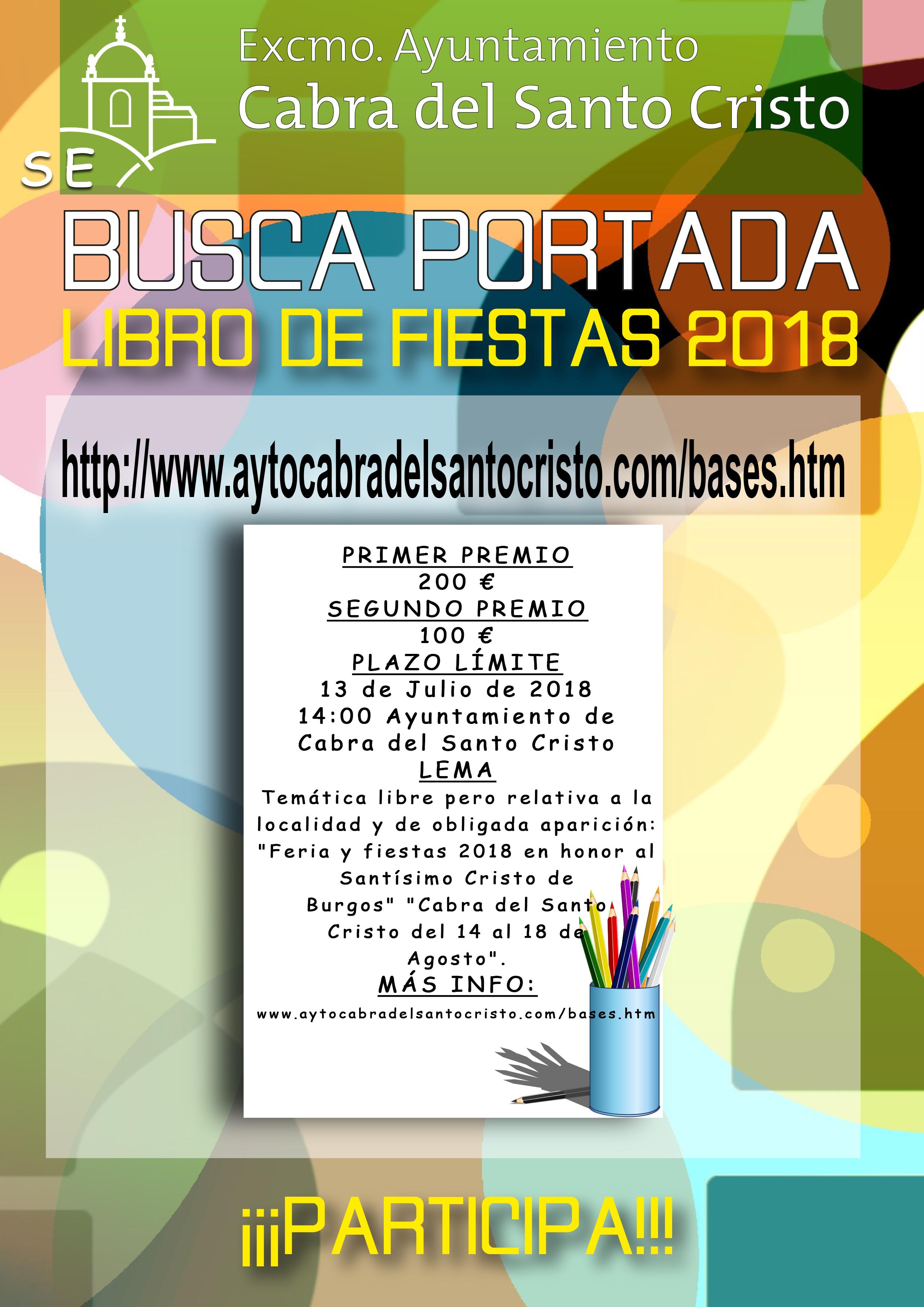 SE BUSCA PORTADA DEL LIBRO DE FIESTAS 2018