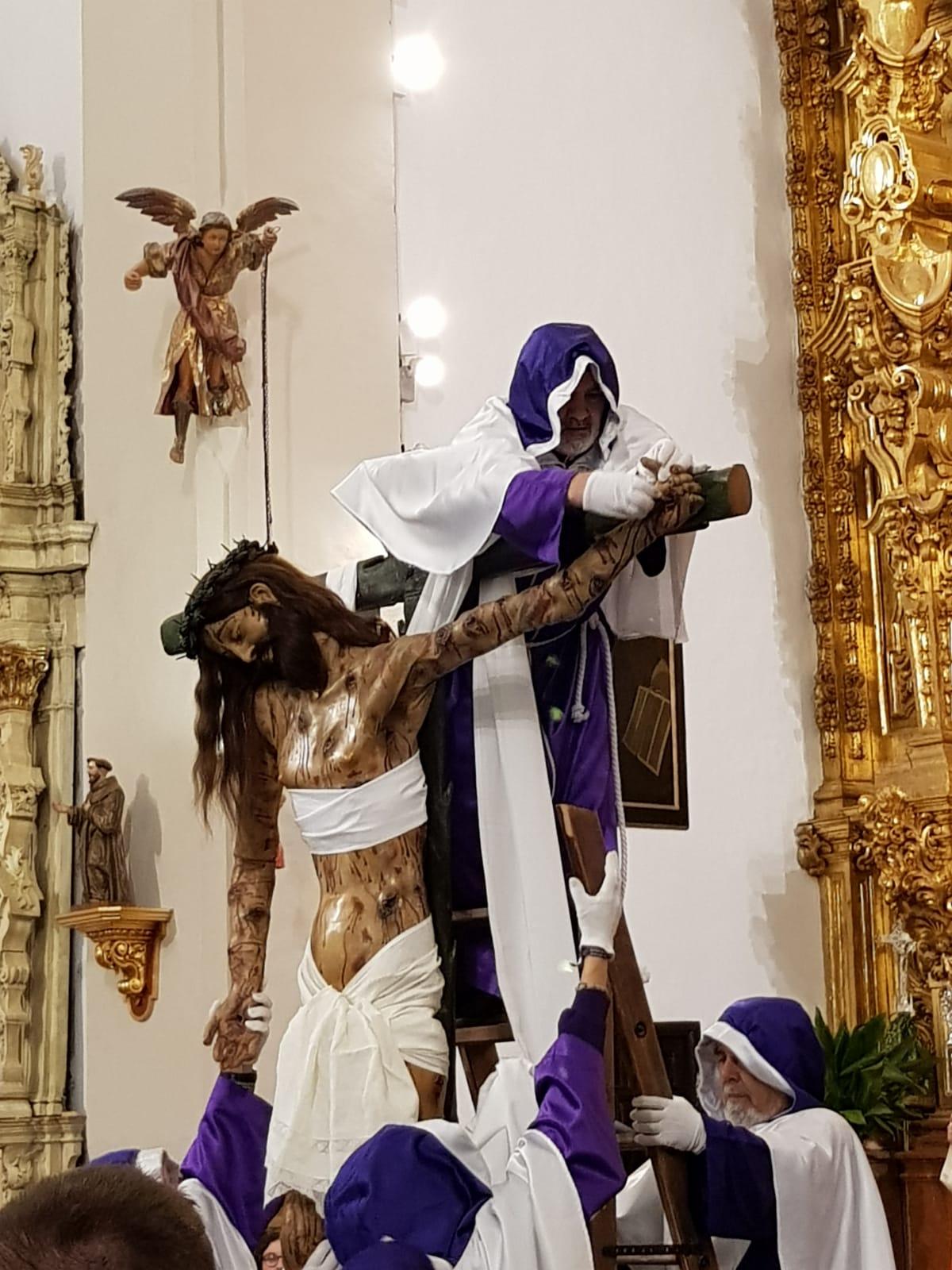 Acto del desenclavo del Santísimo Cristo de Burgos