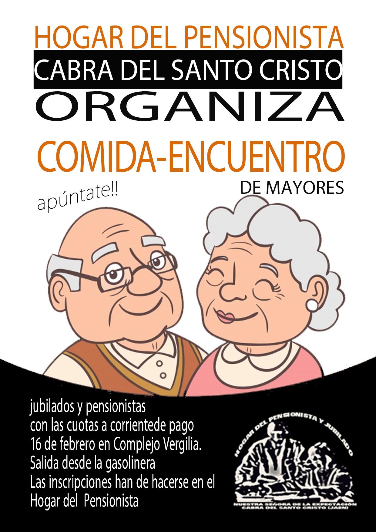 COMIDA DE CONVIVENCIA HOGAR DEL PENSIONISTA Y JUBILADO